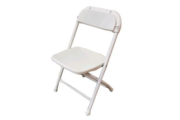 WHITE CHILDRENS FOLDING CHAIR