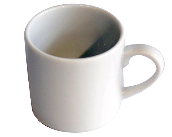 3OZ CLASSIC WHITE DEMI CUP