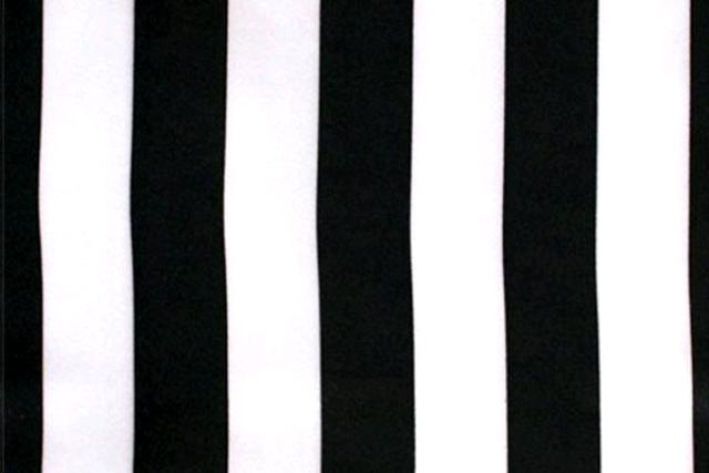 BLACK FORMAL STRIPE POLY NAPKIN